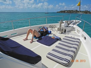 Relaxing at Green Turtle Cay