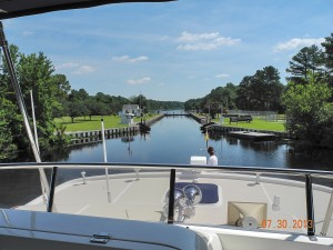 Approaching Deep Creek Lock