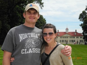 Mitch and Tara in front of Mt Vernon