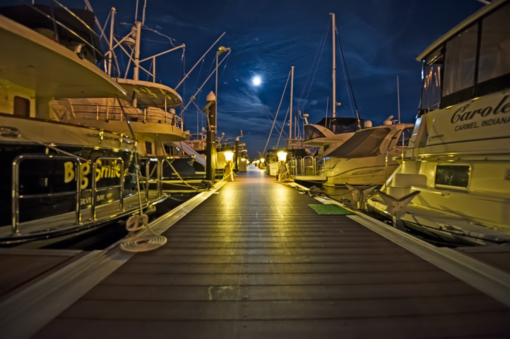 Moonlit dock