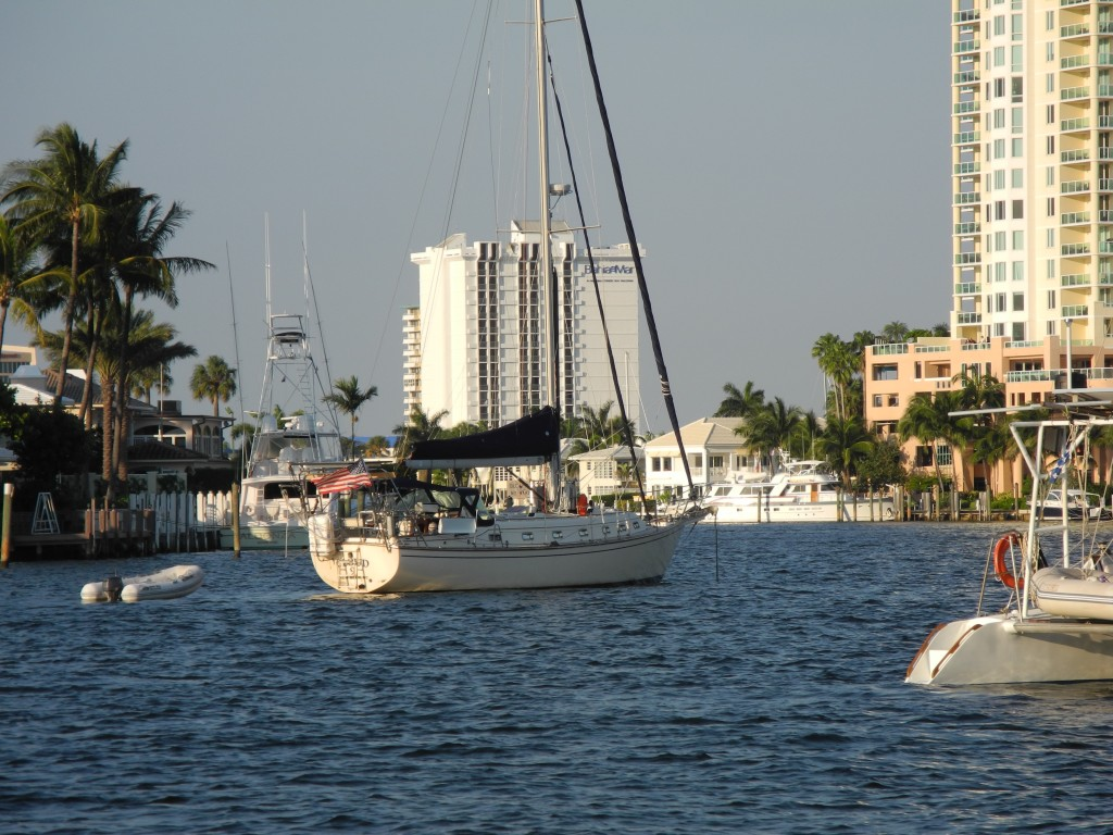 Anchored in Lake Sylvia Ft Lauderdale