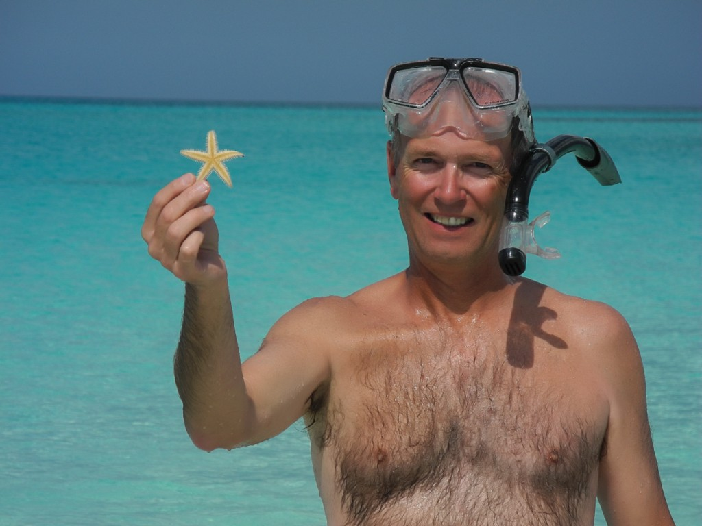 Scott finds a starfish