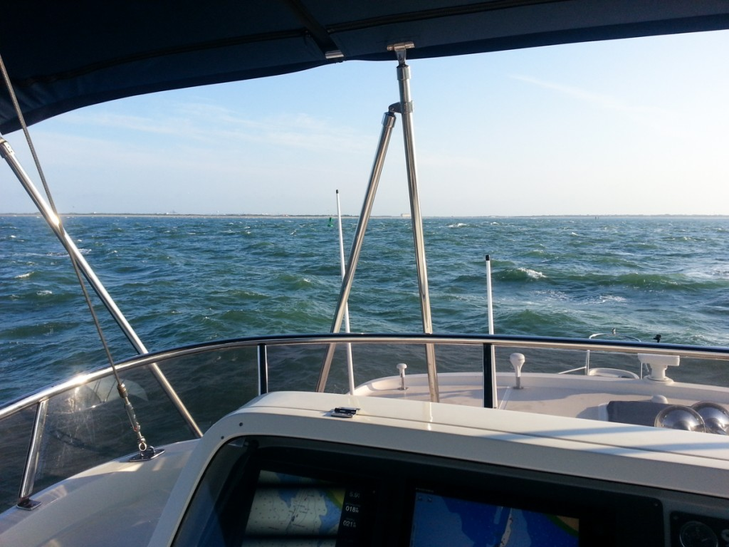 Entering a turbulent Beaufort Inlet